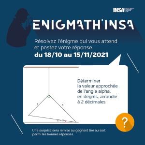 Couverture de Enigmath'INSA - Octobre 2021